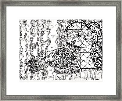 Peace Dove Framed Print