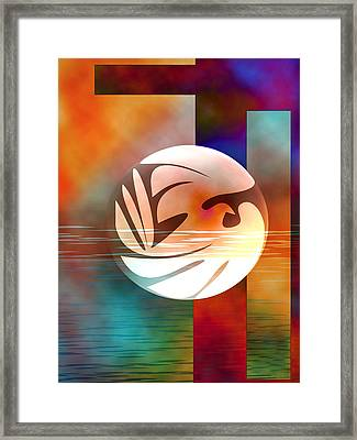 Peace Dove Framed Print by Bruce Manaka