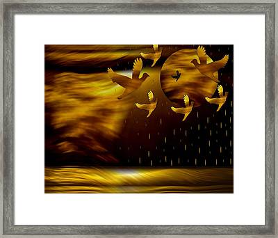 Peace Doves In The Desert Framed Print by Pepita Selles