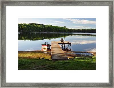 Peace Easy Framed Print by RJ Martens