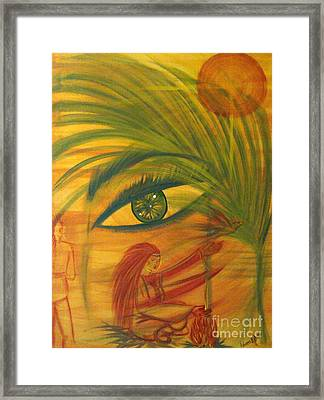 Peace Flees War Framed Print by Adriana Garces
