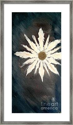 Framed Print featuring the painting Peace Flower by Jacqueline McReynolds