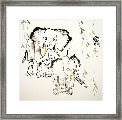 Big Ears Family Framed Print by Ming Yeung