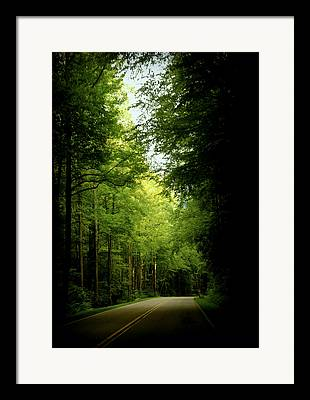 Smokey Mountain Drive Photographs Framed Prints