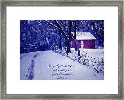 Peace Good Will Toward Men Framed Print by David and Carol Kelly