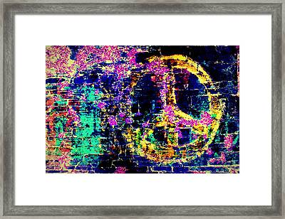 Framed Print featuring the photograph Peace Graffiti by Suzanne Stout