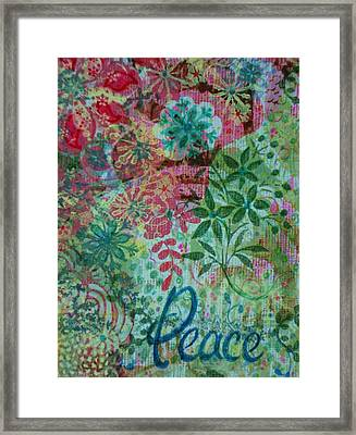 Peace Holiday Greeting Framed Print