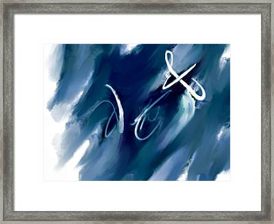 Peace I Give To You Framed Print by Anne Hamilton