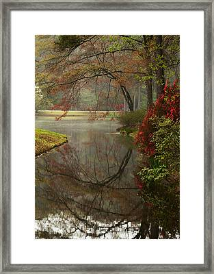 Peace In A Garden Framed Print