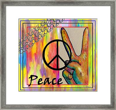 Peace In Every Color Framed Print