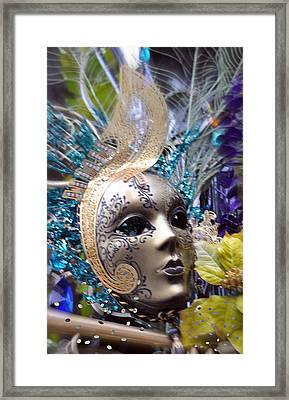 Framed Print featuring the photograph Peace In The Mask by Amanda Eberly-Kudamik
