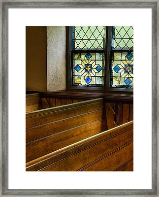 Peace In The Pews Framed Print