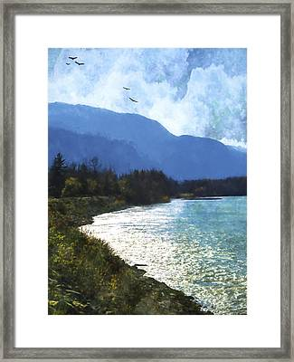 Peace In The Valley - Landscape Art Framed Print