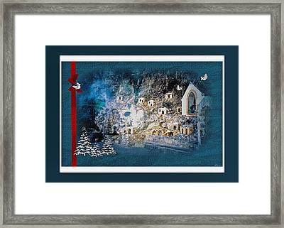Peace In The Village Framed Print