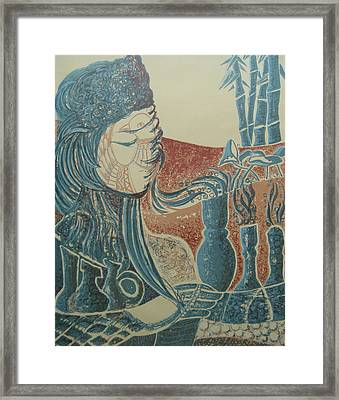Peace Inside Us Framed Print by Ousama Lazkani