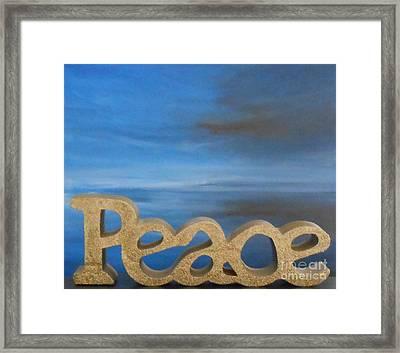 Peace - Jane See Framed Print