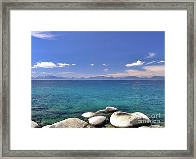 Peace - Lake Tahoe Framed Print