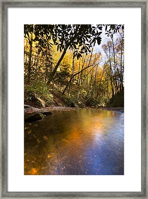 Peace Like A River Framed Print by Debra and Dave Vanderlaan