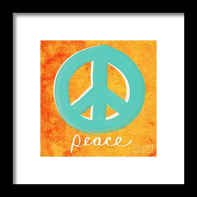 Peace And Love Framed Prints