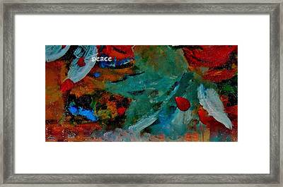 Framed Print featuring the painting Peace by Lisa Kaiser