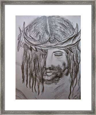 Framed Print featuring the drawing Peace by Lori  Lovetere