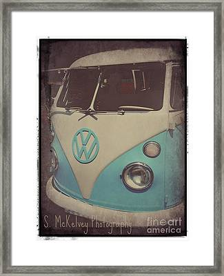 Peace Love And Rock N Roll Framed Print by Suzanne McKelvey