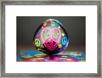 Peace Love Spoon Framed Print by Aaron Aldrich