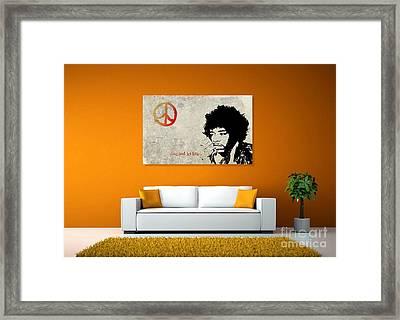 Peace Man Framed Print by Andrea Kollo