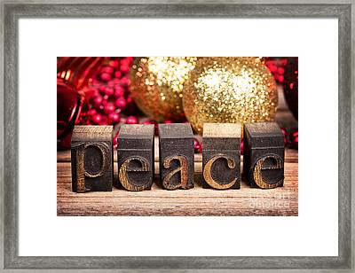 Peace Message Framed Print by Jane Rix