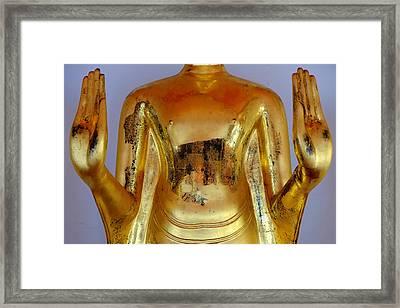 Peace Mudra Framed Print