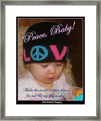 Peace N Love Baby Framed Print