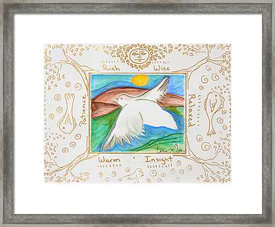 Peace Of Heaven Framed Print by Cassie Sears