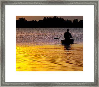 Peace Of Mind Framed Print by Karen Wiles