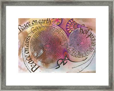 Peace On Earth Framed Print by Amanda Patrick