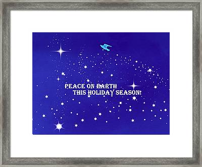 Peace On Earth Card Framed Print