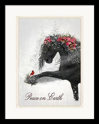 Christmas Cards Digital Art Framed Prints