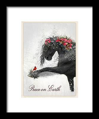 Friesian Framed Prints