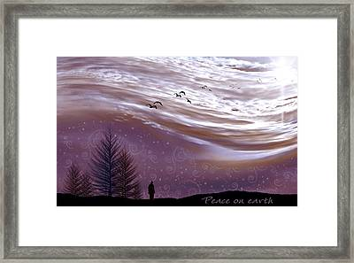 Peace On Earth Framed Print by Holly Kempe