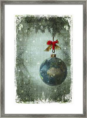 Peace On Earth Framed Print by Marie  Gale
