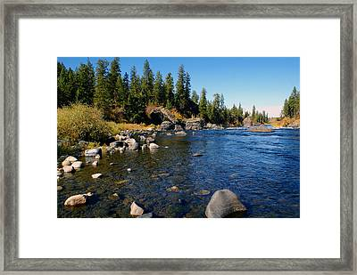 Framed Print featuring the photograph Peace On The Spokane River 2 by Ben Upham III