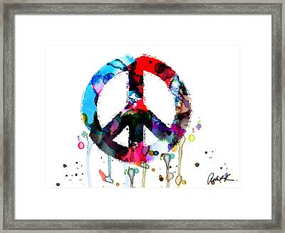 Peace Painting - Signed Art Abstract Paintings Modern Www.splashyartist.com Framed Print
