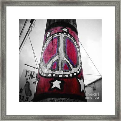 Peace Pole Framed Print by Scott Pellegrin