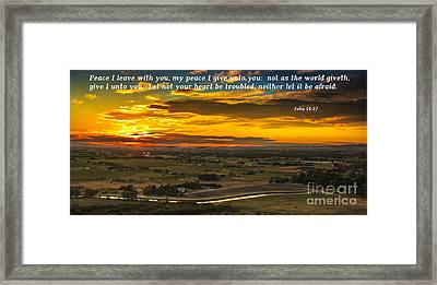 Peace Framed Print by Robert Bales