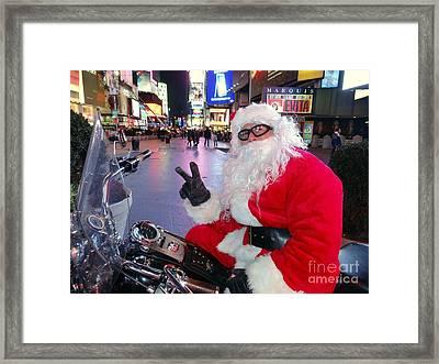 Peace Santa Framed Print by Ed Weidman
