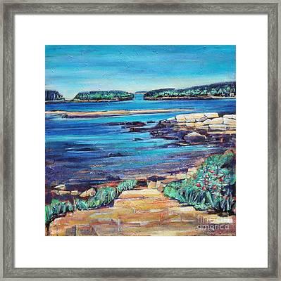 Peace - Seascape Framed Print by Grace Liberator