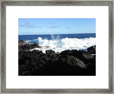 Peace Sign Wave  Framed Print