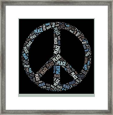 Peace Symbol 02 - 0102a Framed Print by Variance Collections