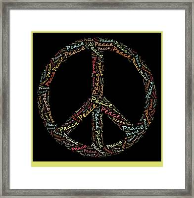 Peace Symbol - 0202 Framed Print