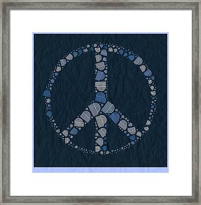 Peace Symbol Design - Bld01t01   Framed Print