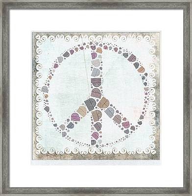 Peace Symbol Design - S76at02 Framed Print by Variance Collections